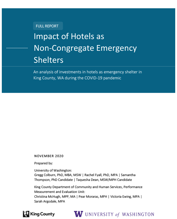 Impact of Hotels as Non-Congregate Emergency Shelters